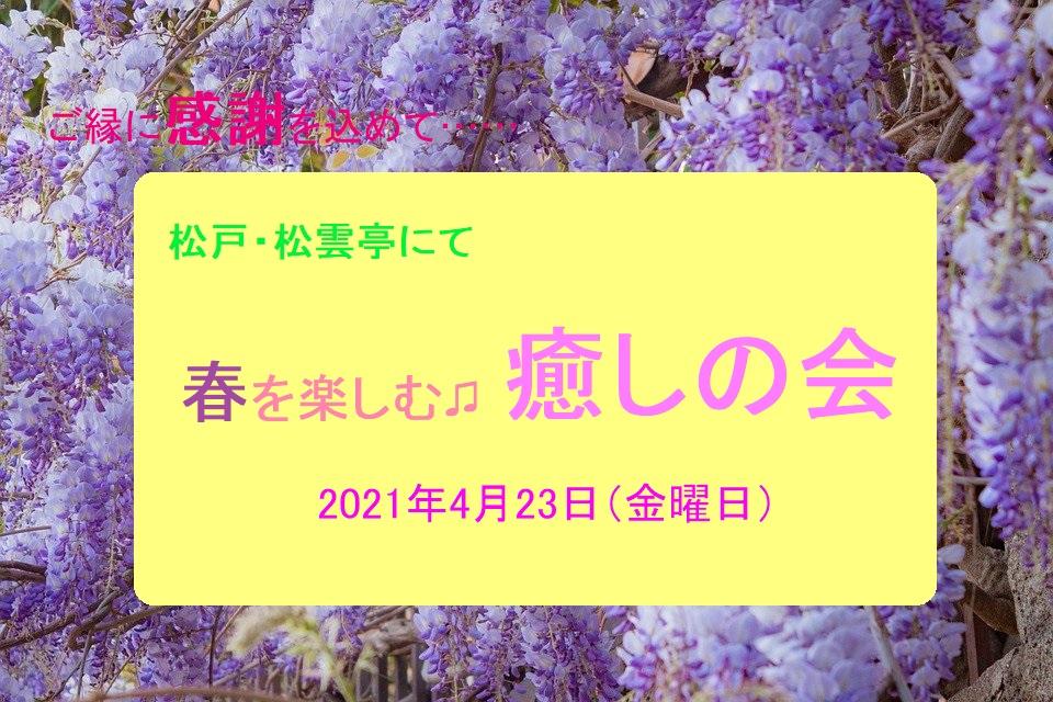 春を楽しむ癒しの会